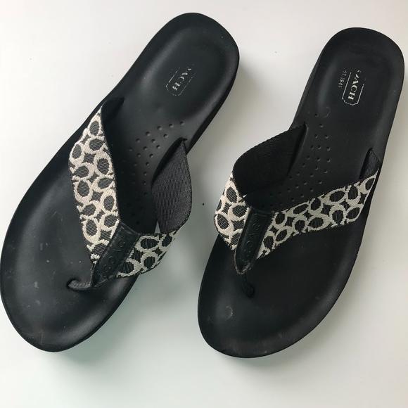 a5f730fd3e7c3 Coach Shoes - Authentic Coach Black flip flops